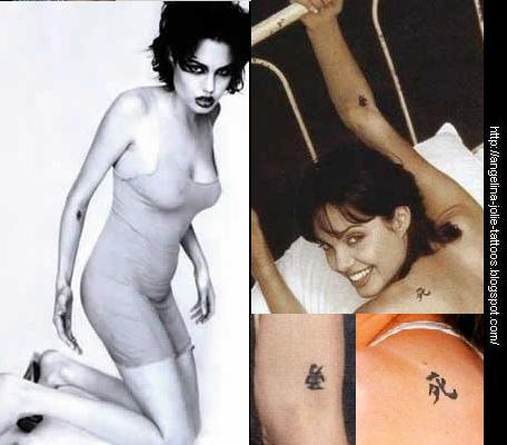 Black angelina jolie tattoo naked soldiers sleeping
